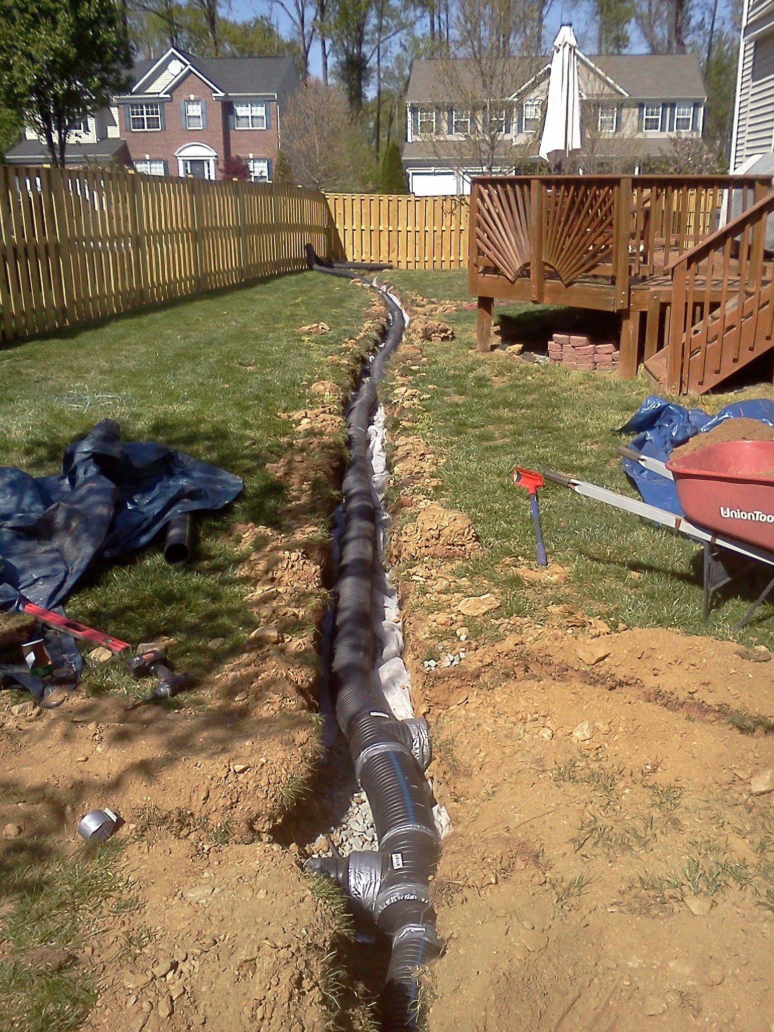 French Drain Contractor Northern Virginia Fairfax Yard Drainage Cost Design Diagram How To A Or Lawn Drains Es Enterprise